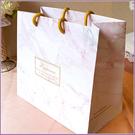 Happiness粉白大理石紋手提袋(2...