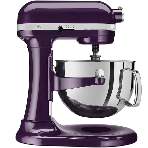 [9美國直購] KitchenAid 攪拌機 Professional 600 Series KP26M1XER Bowl-Lift Stand Mixer, 6 Quart, Purple Plumberry