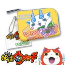 【日本進口正版】 妖怪手錶 黃色 小石獅 票夾零錢包 卡片包 收納包 皮質 - 136315