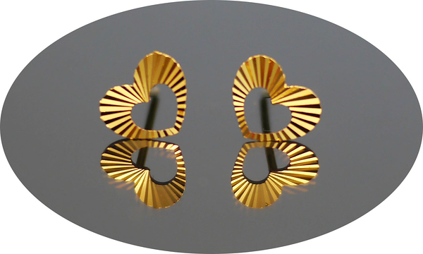 gold 黃金 耳環 金飾 保證卡 重量0.27錢 [ ge 018 ]