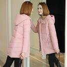 【磨砂面料】2020冬季新款棉衣女中長款韓版加厚羽絨棉服棉襖外套《蓓娜衣都》