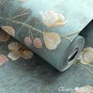 壁紙 加厚歐式精壓墻紙自粘溫馨臥室墻壁3...