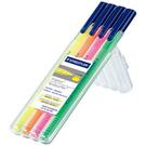 【奇奇文具】施德樓STAEDTLER MS362SB4 Triplus三角舒寫螢光筆 (4色/組)