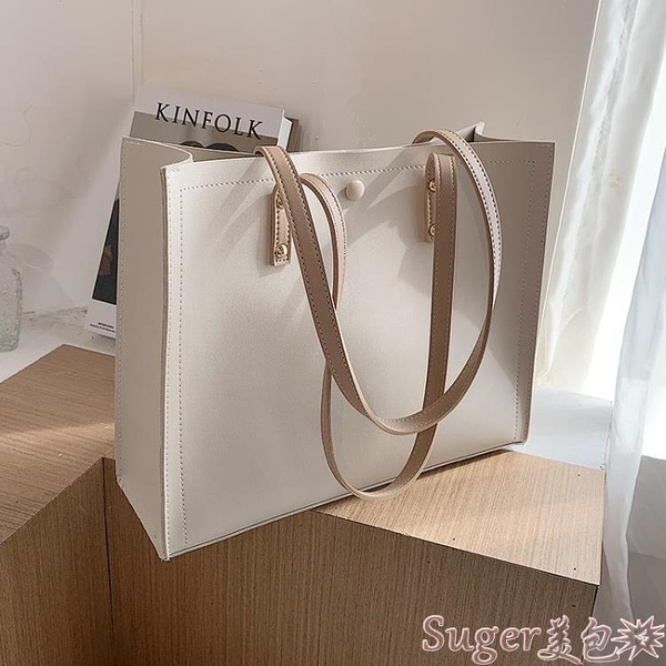 托特包 秋冬上新女士大包包2021流行新款潮時尚簡約大容量百搭側背托特包 suger 新品