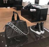 ■2018新品專櫃75折■  Givenchy 全新真品  大款男性款 Pandora潘朵拉 PVC 兩用包 LOGO提帶