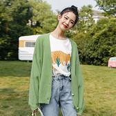 針織開衫外套女早秋2020新款韓版寬鬆百搭慵懶風毛衣短款上衣