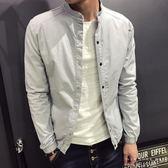 外套 韓版夾克男休閒棒球服