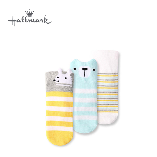 Hallmark Babies 棉質短襪三件裝 HH3-R01-A7-AB-MB