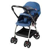 Aprica愛普力卡 Optia新視野 四輪自動定位導向型嬰幼兒手推車 (品格藍)