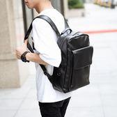 雙11好貨-新款韓休閒商務公文雙肩包時尚潮流皮質書包百搭電腦包