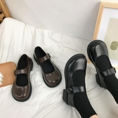 JK鞋 JK制服JK鞋女春季日系洛麗塔鞋學院風百搭厚底瑪麗珍鞋 夏季上新