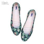 iLR空氣鞋 百搭平底娃娃鞋-叢林花園(綠野仙蹤) 下雨防滑防潑水 約會鞋