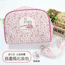 ☆小時候創意屋☆ 迪士尼 正版授權 插畫風 瑪麗貓 化妝包 側背包 萬用包 收納包 旅行包