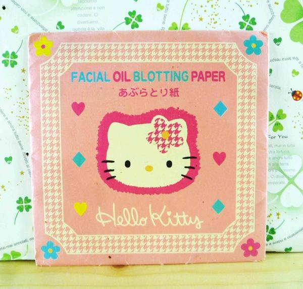 【震撼精品百貨】Hello Kitty 凱蒂貓-KITTY吸油面紙-粉千鳥格圖案