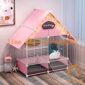 兔籠子家用寵物用品雙層室內別墅兔子屋窩小型自動清糞【宅貓醬】