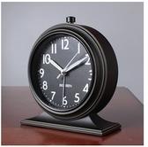 小鄧子歐式複古鬧鐘靜音床頭鐘簡約懷舊鐘錶座鐘帶夜光時尚臥室台鐘