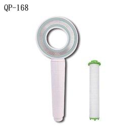 二代QSPA升級大流量甜甜圈造型增壓細水蓮蓬頭1支(顏色隨機) 附贈亞硫酸鈣除氯過濾濾芯棒1支