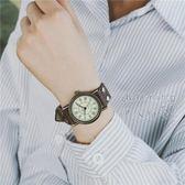 文藝復古款皮帶女學生韓版簡約個性手錶 DA3125『伊人雅舍』