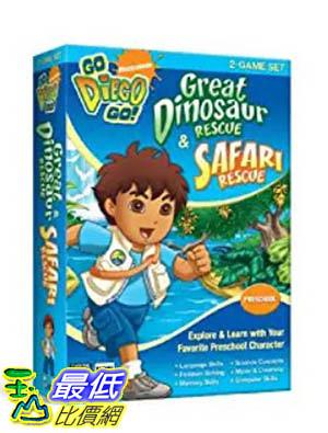 [106美國暢銷兒童軟體] Nickelodeon Go Diego Go: Great Dinosaur Rescue Safari Rescue (2-Game Set)Old Version