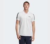 Adidas 3-STRIPES POLO SHIRT 男款白色短袖POLO衫-NO.EJ0926