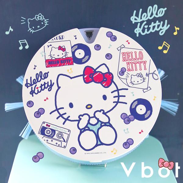 【送擦地組】Vbot x Hello Kitty i6+ 掃地機器人 吸塵器 蛋糕機 二代加強 (藍莓奶昔)