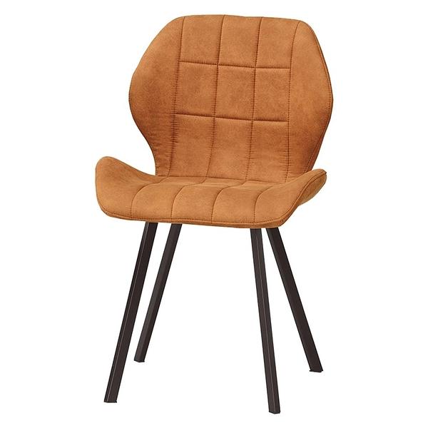 伯頓餐椅(橘色布)(20CM/532-12)/H&D東稻家居