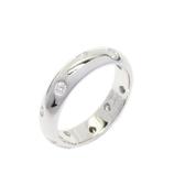 Tiffany & Co 蒂芬妮 鑲10顆鑽鉑金戒指 Dots Ring 10P Diamond Platinum