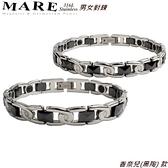 【MARE-316L白鋼】男女對鍊 系列:香奈兒(黑陶) 款