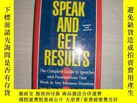 二手書博民逛書店SPEAK罕見AND GET RESULTS 精裝 105Y10970 出版1994