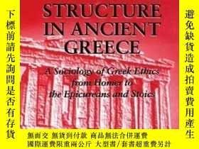 二手書博民逛書店【罕見】Moral Codes And Social Structure In Ancient Greece (s