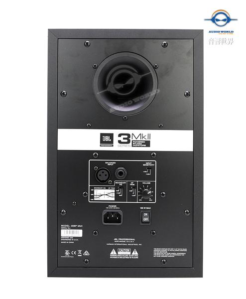【音響世界】JBL 306P MKII新3系6.5吋112W主動式監聽喇叭- 附美製訊號線+ISO避震架 – 免運分期0利率