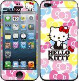Hello Kitty彩繪貼 iPhone 5s 5 iPhone SE 螢幕保護貼+背蓋貼  (202)