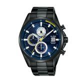 ALBA雅柏 新上市廣告款三眼計時碼錶VD57-X136SD(AM3601X1)藍X黑