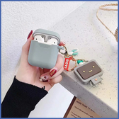 蘋果 AirPods 保護套 可愛動物吊飾 Apple藍牙耳機盒 保護套 矽膠 軟殼