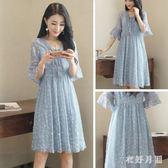 中大尺碼 大尺碼寬鬆洋裝遮肚子連衣裙雪紡夏裝減齡大碼仙裙 WD1290『衣好月圓』