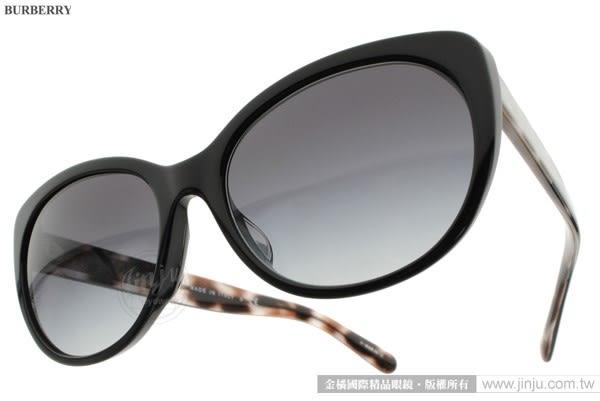 BURBERRY 太陽眼鏡 BU4224F 30018G (黑) 歐美時尚貓眼款 # 金橘眼鏡