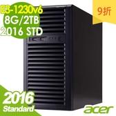 【現貨】Acer伺服器 T110 F4 E3-1230v6/8G/1Tx2/2016STD 商用伺服器