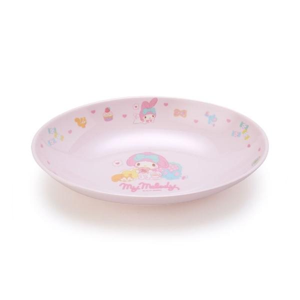 小禮堂 美樂蒂 橢圓形美耐皿盤 兒童餐盤 沙拉盤 點心盤 塑膠盤 (粉 2021新生活) 4550337-42596