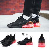 Nike 慢跑鞋 Air Max 270 Hot Punch 黑 桃紅 大氣墊 大型後跟氣墊 舒適緩震 運動鞋 男鞋【PUMP306】 AH8050-010