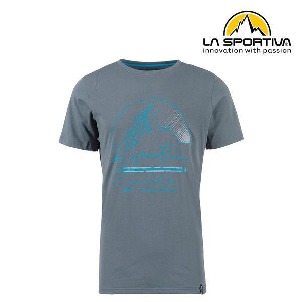 【義大利 LA SPORTIVA】Connect T-Shirt 透氣短袖上衣 男款 石板灰 #N03903903