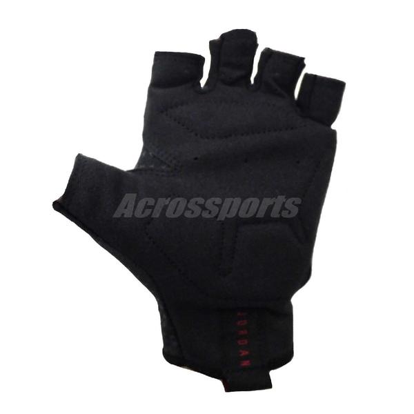 Nike 訓練 手套 Jordan Gloves 手套 健身房 重訓 喬丹 黑 紅 男款【ACS】 J0001945-034