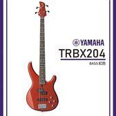 【非凡樂器】YAMAHA TRBX204 / 電貝斯套組/公司貨保固/紅色
