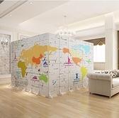 中式屏風隔斷客廳可行動折屏裝飾簡約時尚臥室經濟型雙面折疊布藝 『向日葵生活館』