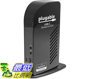 [8美國直購] 螢幕擴充器 Plugable USB-C Triple Display Docking Station with Charging Support Power Delivery B01FKTZLBS