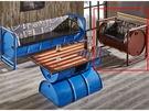 8號店鋪 森寶藝品傢俱 b-07 品味生活 客廳 沙發系列154-1 加侖酒紅色仿舊油桶皮沙發-單人座