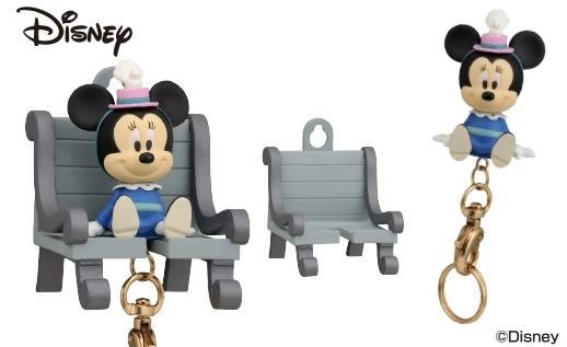 Hamee 日本正版 迪士尼 歡迎回家 磁鐵座 鑰匙圈 吊飾 掛飾 (米妮) EK37878