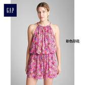 Gap女裝 褶飾寬鬆連體褲 294438-彩色印花