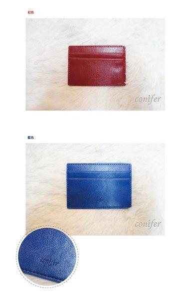 《Cuir》票卡夾 /藍【綠的事務】