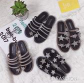 歐洲站2018新款水鉆時尚個性學生拖鞋女夏外穿套趾海邊沙灘涼拖鞋·Ifashion
