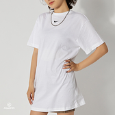 Nike AS W NSW Essntl SS Dress 女 白 運動 休閒 長版洋裝 短袖 CJ2243-100